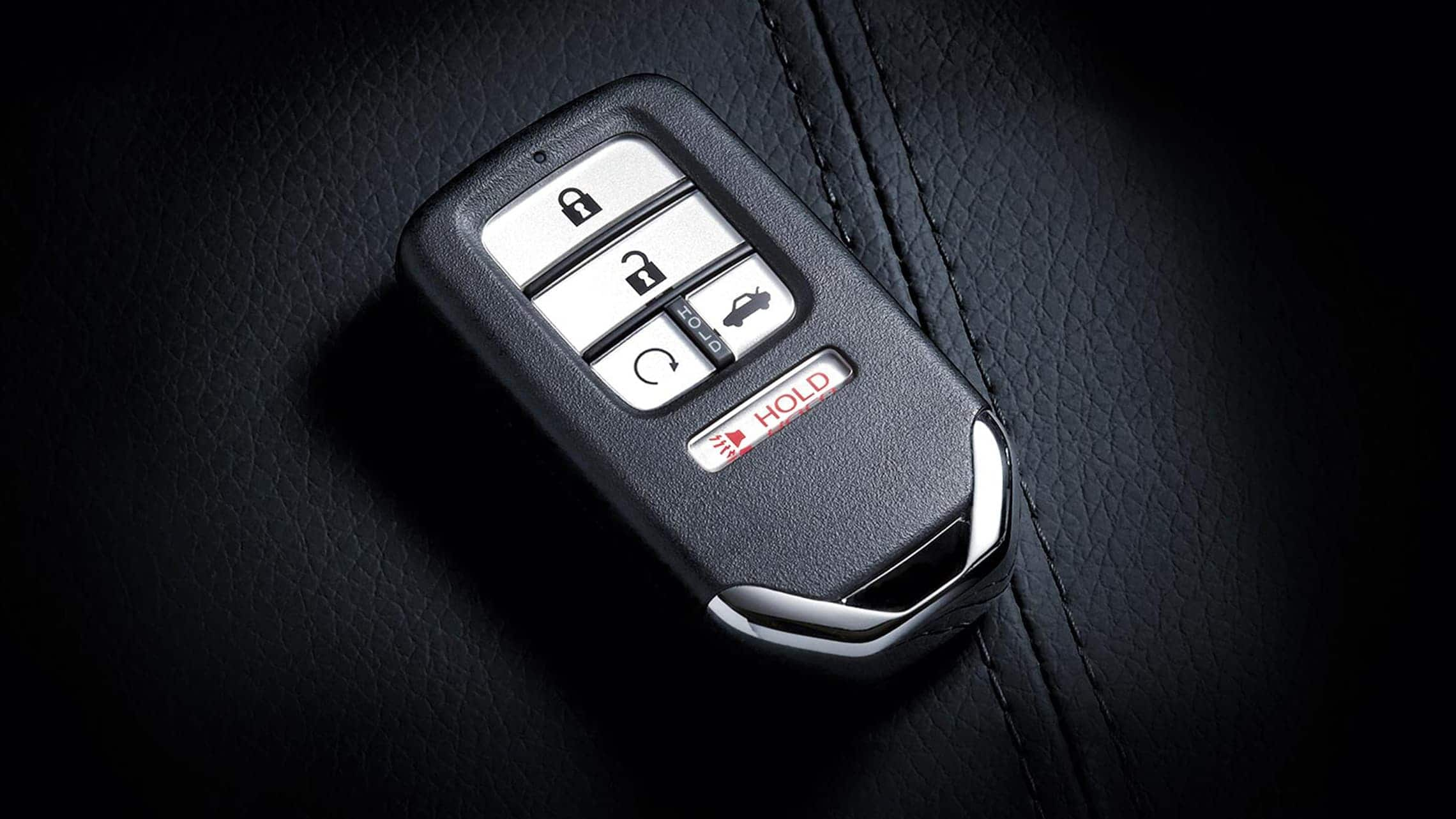 Remote engine start key fob detail for the 2020 Honda Civic Sedan.