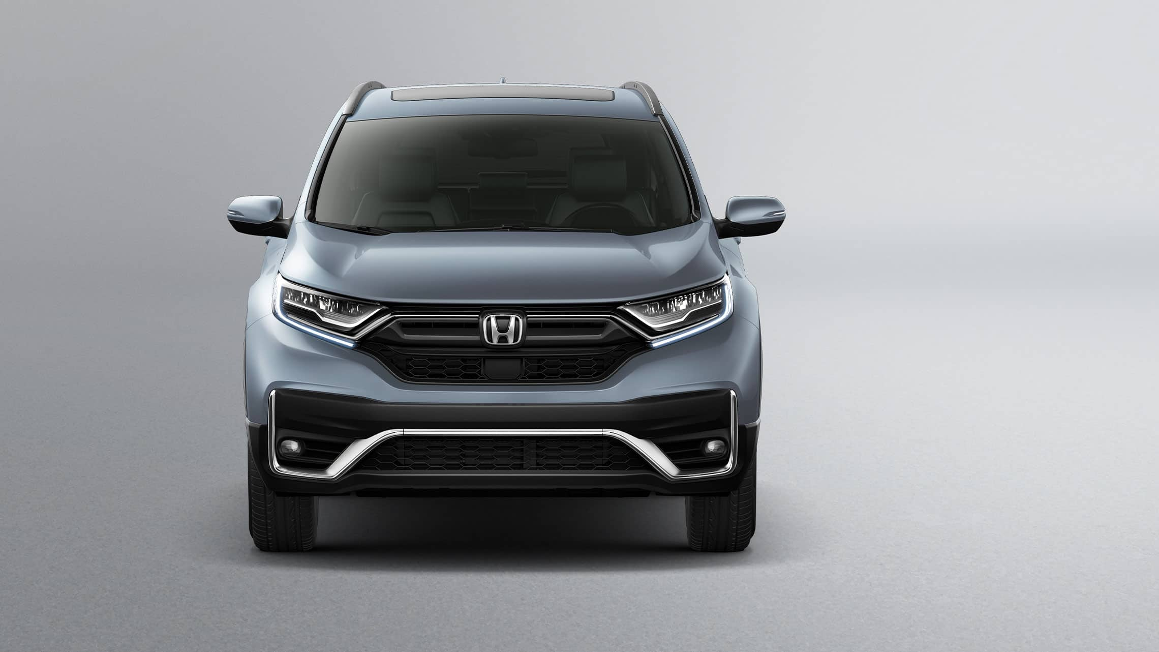 Front view of 2020 Honda CR-V Touring in Sonic Gray Pearl.