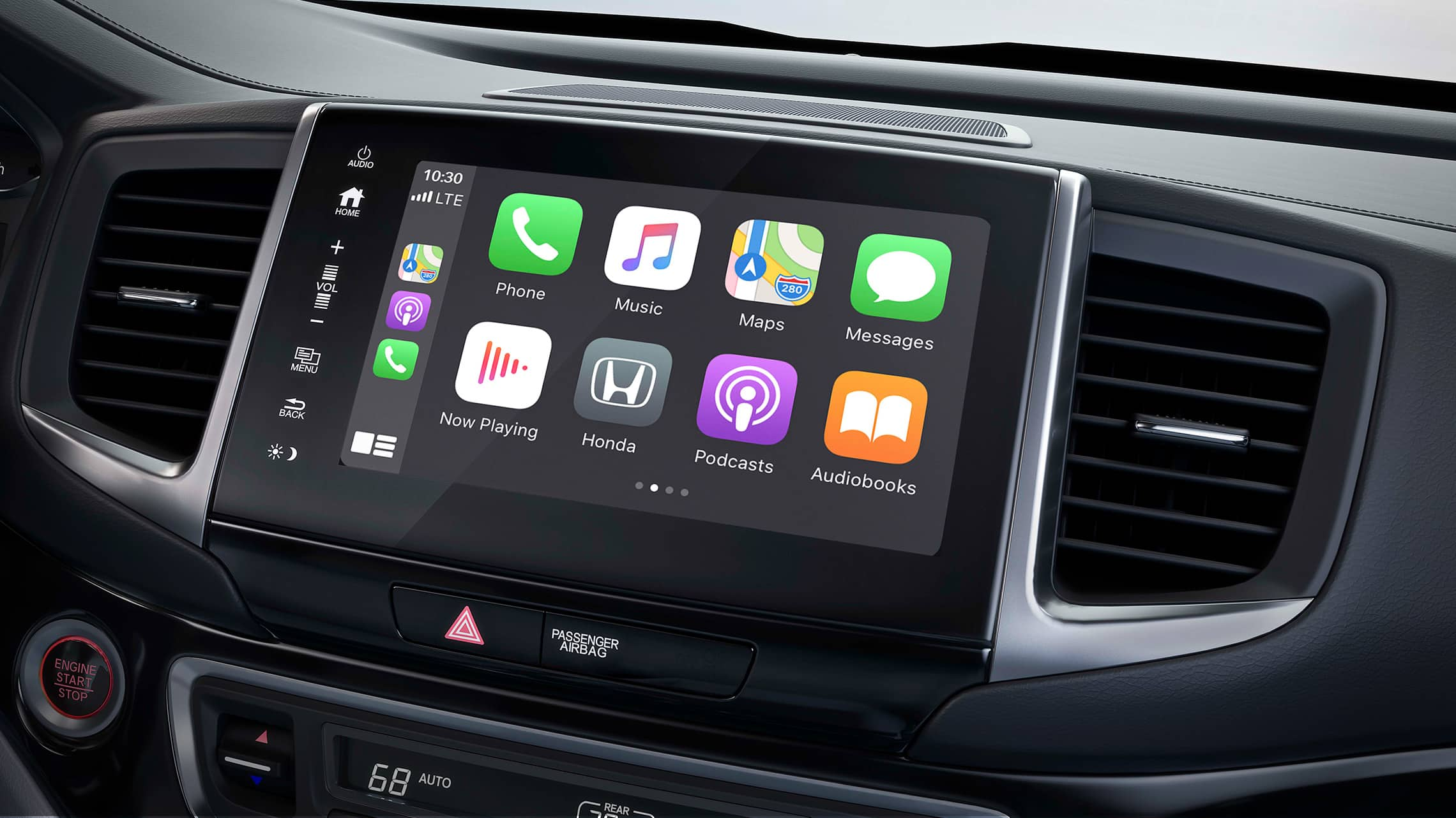 Apple CarPlay® integration displayed on Display Audio touch-screen in the 2020 Honda Ridgeline.