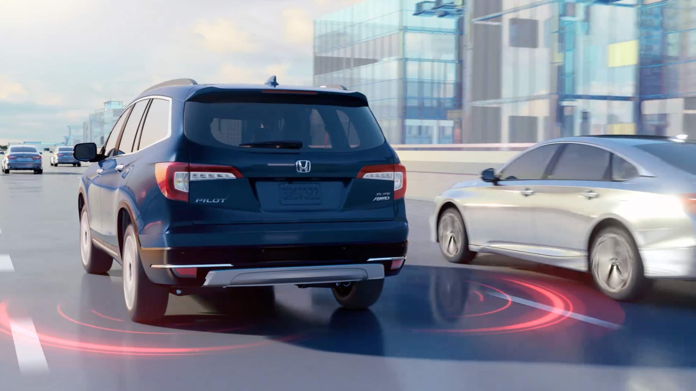 Blind Spot Information graphics on 2021 Honda Pilot.